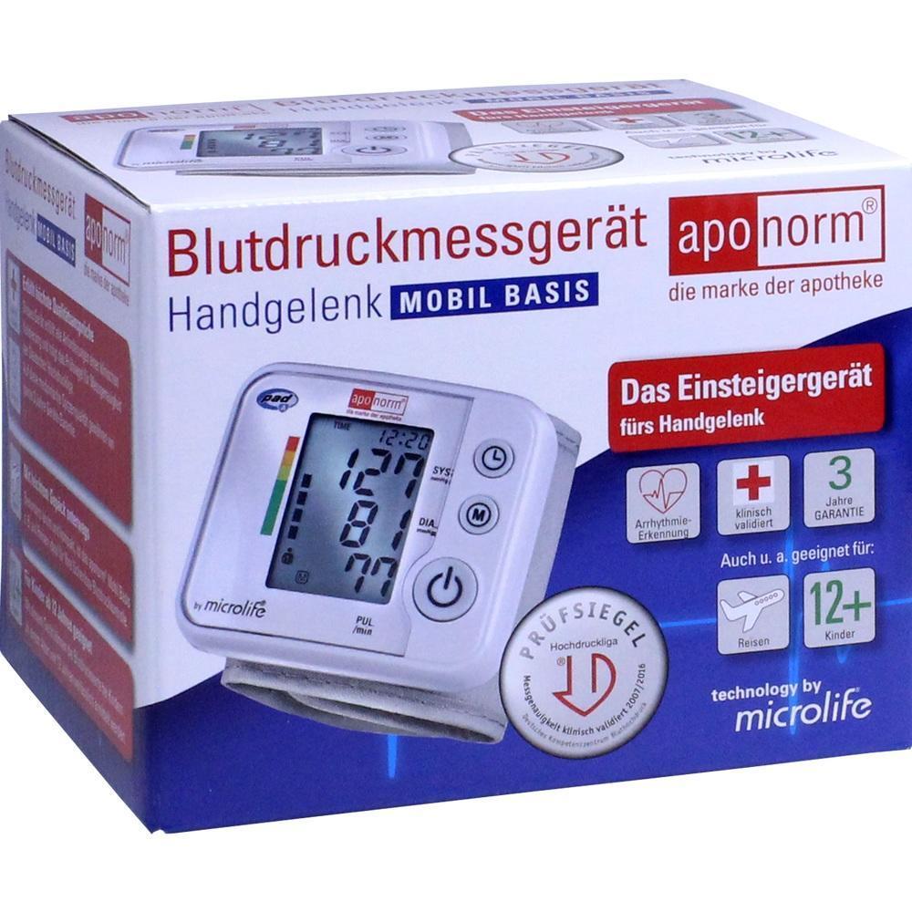 Aponorm Blutdruck Messgerät Mobil Basis Handgelenk (PZN..
